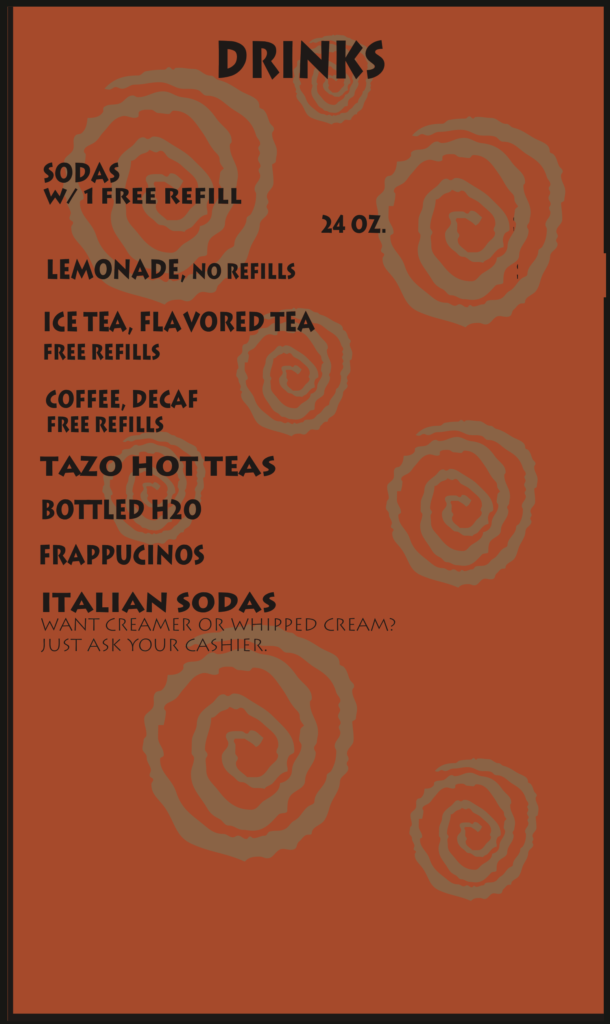 Greek and Middle Eastern Food Albuquerque Menu Drinks